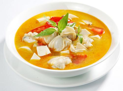 Cách làm Canh ngao đậu phụ rau răm ngon.